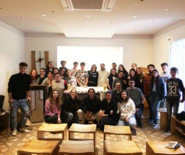 Giovani Vincenziani in visita al Villaggio