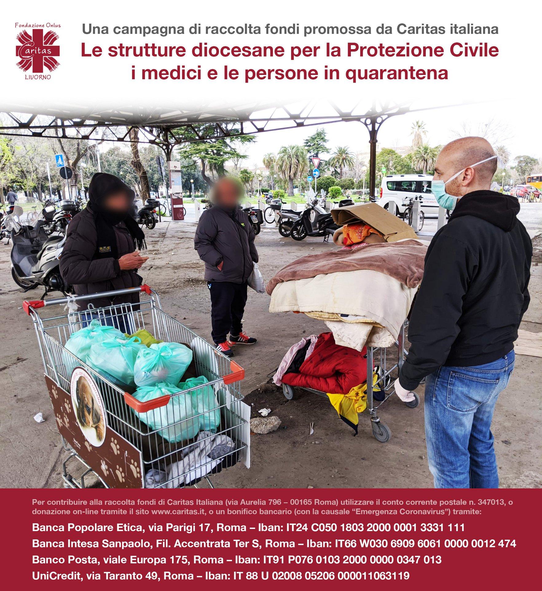 Le strutture Diocesane per la Protezione Civile, i medici e le persone in quarantena