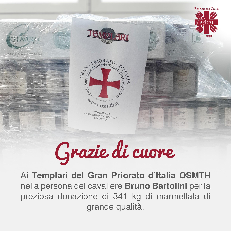 Grazie di cuore ai Templari del Gran Priorato d'Italia OSMTH nella persona del cavaliere Bruno Bartolini