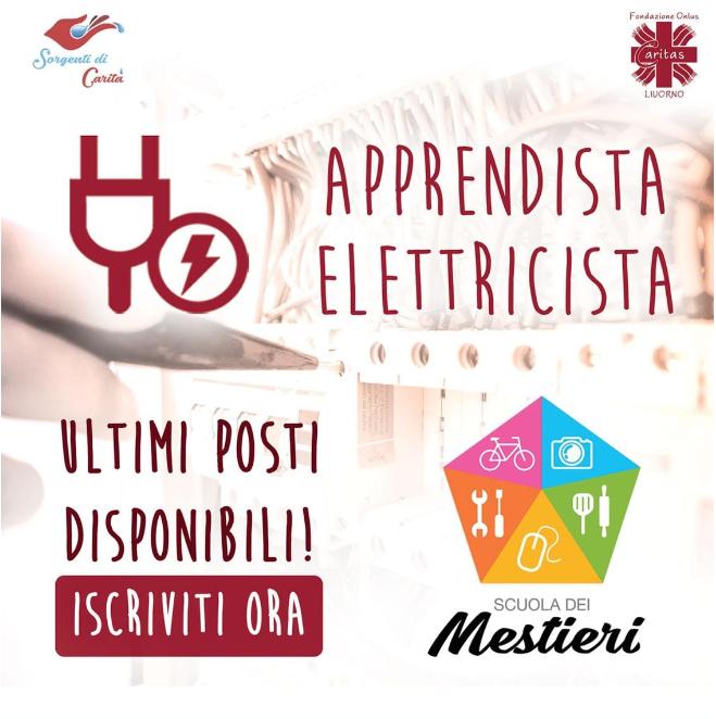 Ultimi posti disponibili per il corso di apprendista elettricista della Scuola dei Mestieri