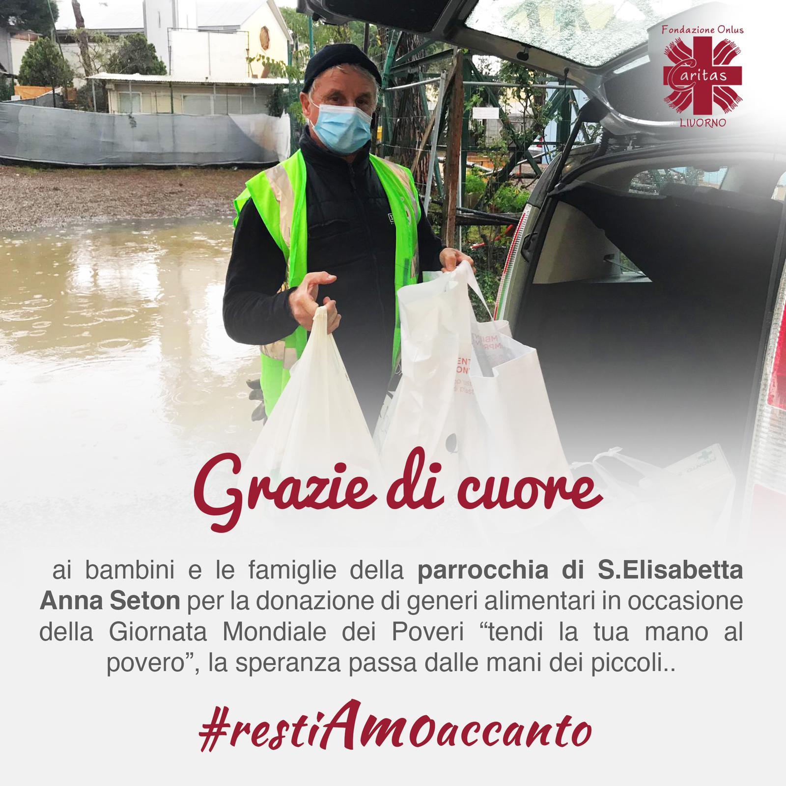 Donazione alimentare dalla parrocchia di S. Elisabetta Anna Seton