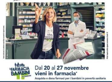 Venerdì 20 novembre raccolta straordinaria di farmaci per bambini