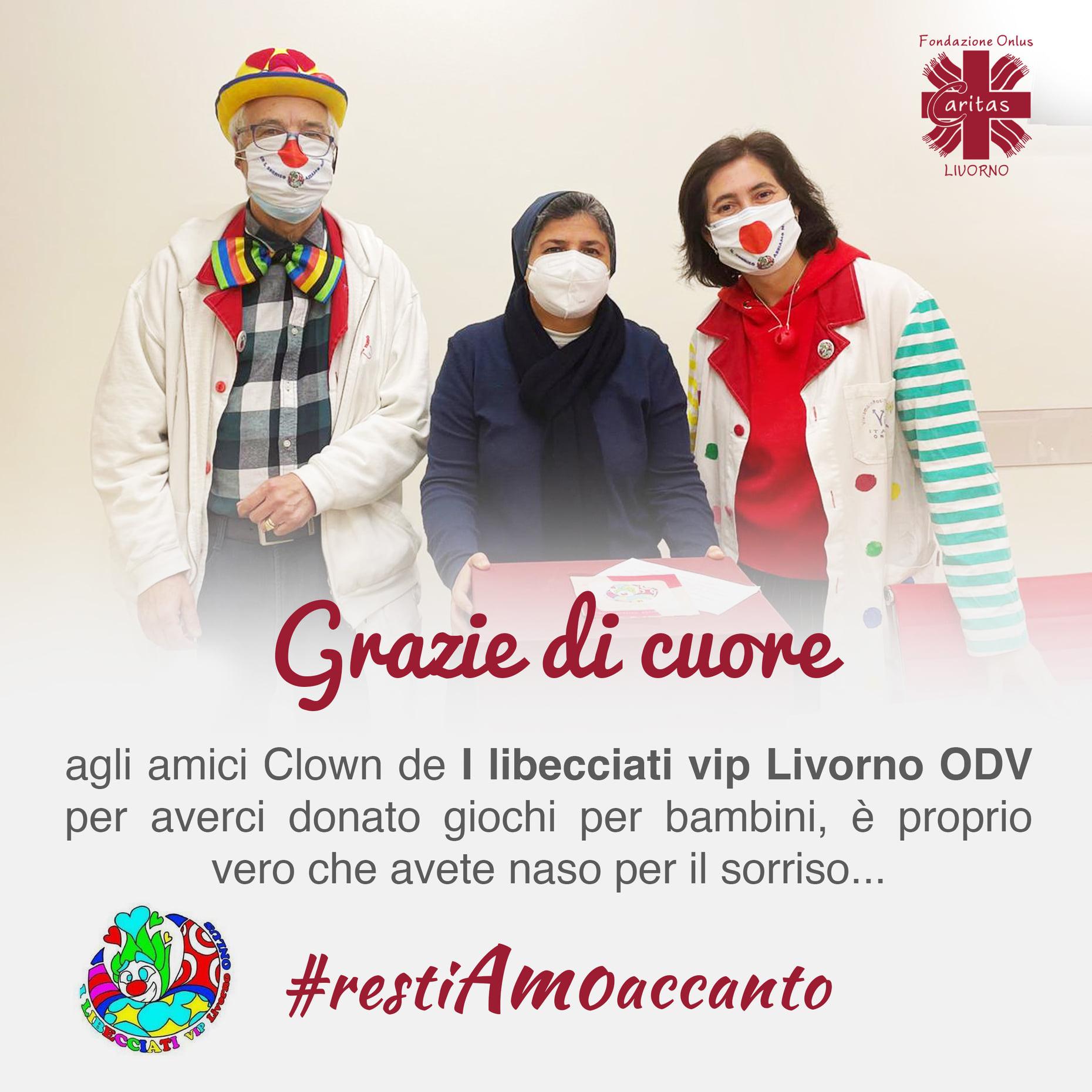 Grazie a I libecciati vip Livorno ODV per la donazione di giochi per bambini