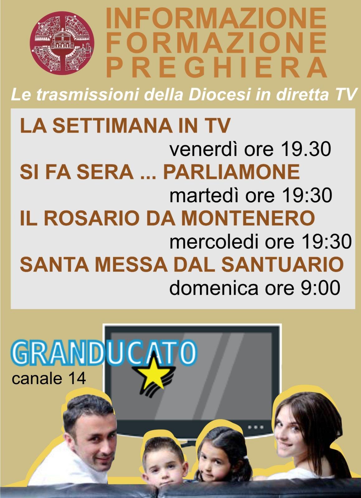 La programmazione delle trasmissioni della Diocesi in diretta TV su Telegranducato