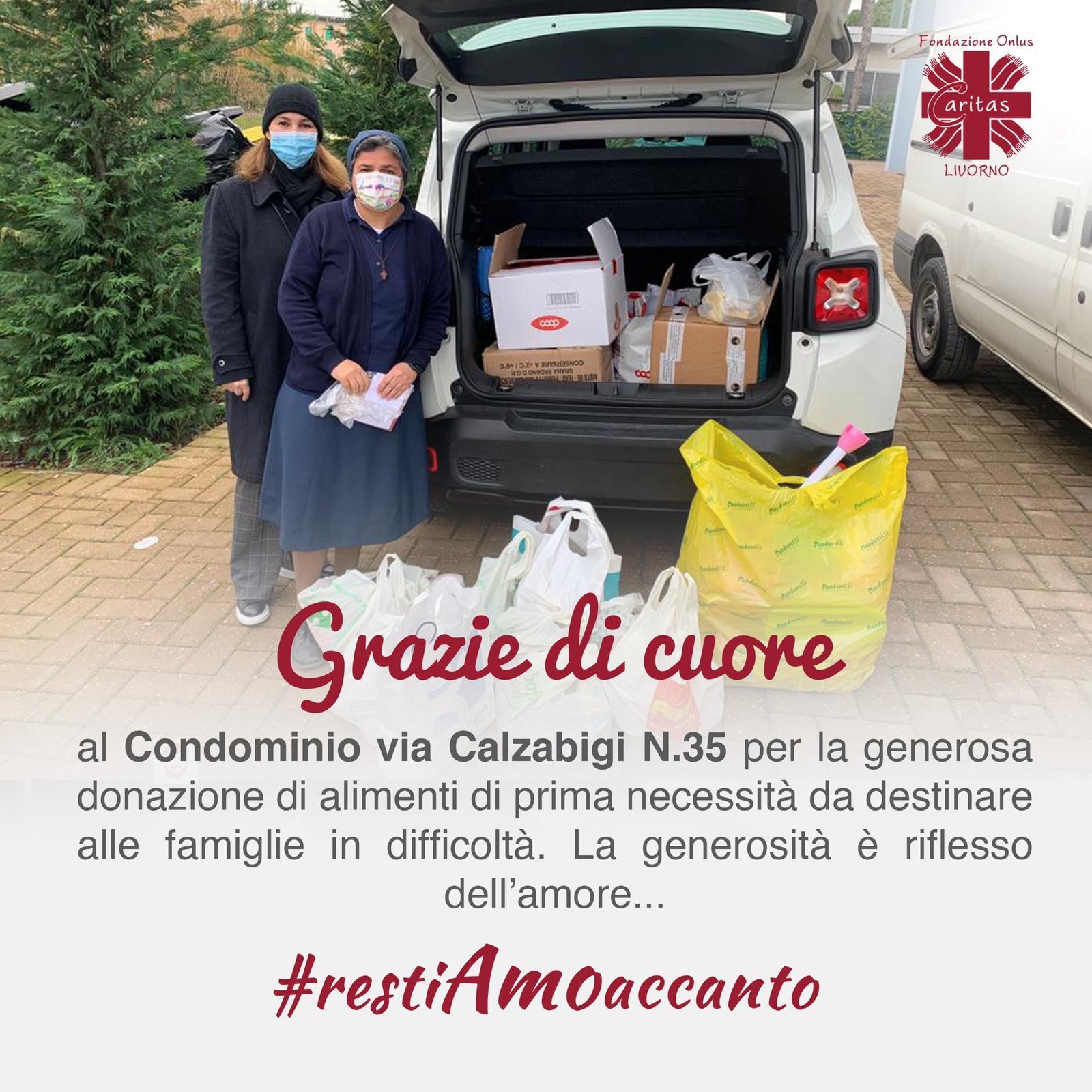 Grazie al Condominio via Calzabigi n.35 per la generosa donazione