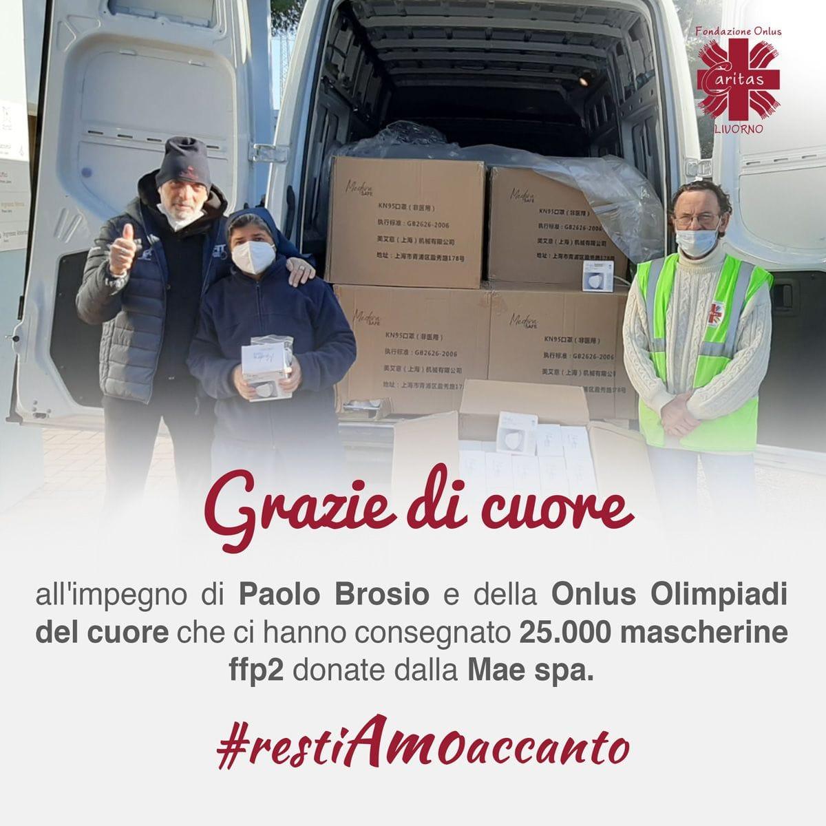Grazie a Paolo Brosio e alla Onlus Olimpiadi del Cuore per la generosa donazione