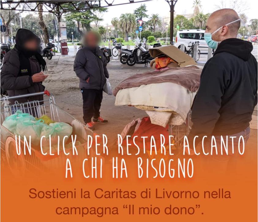 Caritas Livorno partecipa a Il Mio Dono. Un click per aiutare chi ha bisogno!