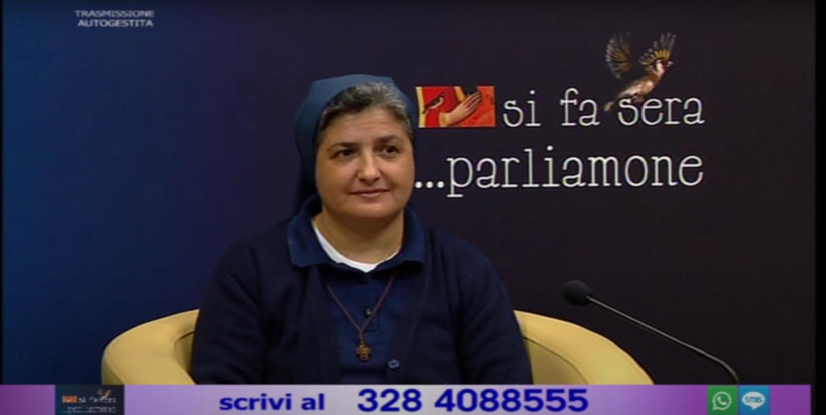 """Suor Raffaella Spiezio intervistata a """"Si fa sera…parliamone"""""""